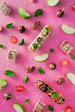 Sweet Patterns: Popcakes and Eclairs Reproduction photographique par Dina Belenko