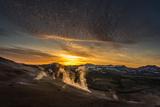 Geothermal Hot Springs, Mud Pots and Fumaroles, Namaskard Close to Lake Myvatn, Northern, Iceland Impressão fotográfica por Ragnar Th Sigurdsson