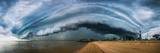 Australia, Redcliffe, Amazing Storm Cloud over Beach Fotografie-Druck von  Pete