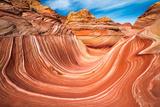 The Wave, Coyote Buttes, Paria-Vermilion Cliffs Wilderness, Arizona Usa Reproduction photographique par Russ Bishop