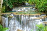 Waterfall in Kanchanaburi Province, Thailand Fotografisk tryk af Pongphan Ruengchai