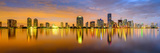 Miami, Florida, USA City Skyline Panorama Photographic Print by Sean Pavone