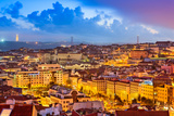 Lisbon, Portugal Skyline at Sunset Photographic Print by Sean Pavone