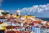 Lisbon, Portugal Skyline at Alfama, the Oldest District of the City Fotografisk tryk af Sean Pavone