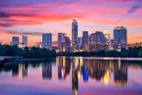 Austin, Texas, USA Skyline on the Colorado River Fotoprint av Sean Pavone