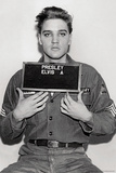 Elvis Presley- 1958 Enlistment Photo Póster