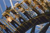 Fairgoers on a 'Round-Up' Spinning Amusement Ride at the Iowa State Fair, Des Moines, Iowa, 1955 Fotografisk trykk av John Dominis