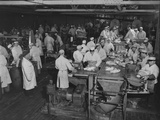 1946: Workers as They Butcher Meats in the Hormel Foods Corporation Factory, Austin, Minnesota Photographic Print by Wallace Kirkland