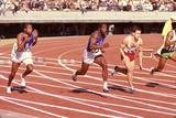 American Bob Hayes (Center) at Tokyo 1964 Summer Olympics, Japan Fotografisk trykk av Art Rickerby