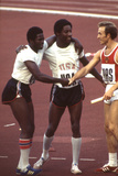 Usa Winners of the Men's 400- Meter Relay Race 1972 Summer Olympic Games in Munich, Germany Fotografisk trykk av John Dominis