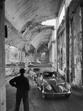 Volkswagons Rolling Off the Assembly Line Photographic Print by Walter Sanders