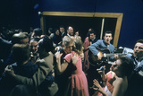 Patrons Dancing in the Blue Derby Jazz Club in Melbourne, Australia, 1956 Fotografisk trykk av John Dominis