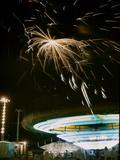 1955: Fireworks Display over Iowa State Fair, Des Moines, Iowa Fotografisk trykk av John Dominis