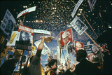 Raining Gold Coins as Barry Goldwater Wins the Republican Nomination, San Francisco, CA, 1964 Photographic Print by John Dominis