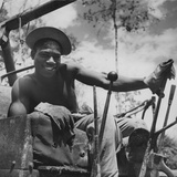 Portrait of Us Army Driver Joe Greene (Of Jacksonville, Florida), Ledo Road, Burma, July 1944 Photographic Print by Bernard Hoffman