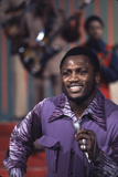 Joe Frazier Singing with His Band Joe Frazier and the Knockouts on Don Rickles Show, 1971 Photographic Print by John Shearer