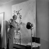 Artist Jean Lurcat Creating Tapestry. Paris, France June 1946 Photographic Print by Ralph Morse
