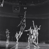 University of Kansas Basketball Player Wilt Chamberlain (C) Playing in a School Game, 1957 Photographic Print by George Silk