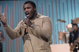 Joe Frazier Rehearsing with His Band Joe Frazier and the Knockouts for Don Rickles Show, 1971 Photographic Print by John Shearer