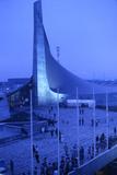 Sunrise at the Yoyogi National Gymnasium, 1964 Tokyo Summer Olympics, Japan Fotografisk trykk av Art Rickerby