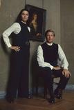 French Fashion Designer Bernard Lanvin and His Wife, Meryl, Louvre, Paris, France, 1968 Impressão fotográfica por Bill Ray