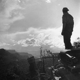American Soldier Stands on the Hood of a Vehicle on the Ledo Road, Burma, July 1944 Photographic Print by Bernard Hoffman
