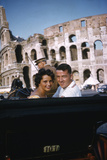 August 1960: Harold Connolly and His Wife Olga Fikotova at the 1960 Rome Olympic Games, Rome Photographic Print by Mark Kauffman