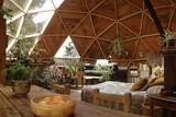 Geodesic Dome House Designed by Cathedralite Domes for Dr Charles Bingham, Fresno, CA, 1972 Fotografisk trykk av John Dominis