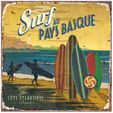 Surf Pays Basque Posters van Bruno Pozzo