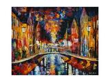 The Town Bridge Schilderij van Leonid Afremov