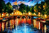 Amsterdam The Release Of Happines Poster van Leonid Afremov