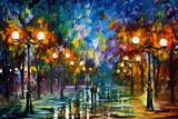 End Of Winter Poster di Leonid Afremov