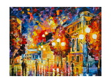City Lights Prints by Leonid Afremov