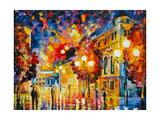 Luces de la ciudad Póster por Leonid Afremov