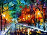 Alone Walk Arte di Leonid Afremov