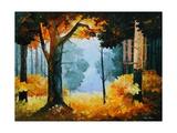 Pine Wood Schilderij van Leonid Afremov