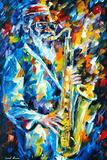 Sonny Rollins Plakat av Leonid Afremov