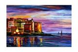 Italy Liguria Láminas por Leonid Afremov