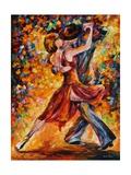 In the Rhythm of Tango Print van Leonid Afremov