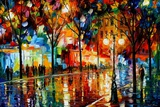 The Tears Of The Fall Poster di Leonid Afremov