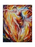Flaming Dance Poster di Leonid Afremov