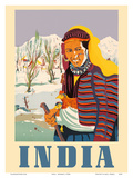 India - Kashmir Native Woman Posters by  Pacifica Island Art