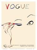 Vogue Magazine Cover - February 15, 1935 Print van Carl Erickson