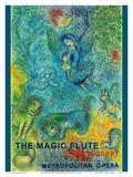 The Magic Flute - Mozart - Metropolitan Opera Schilderij van Marc Chagall