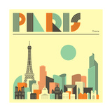 Toits de Paris Poster par Jazzberry Blue