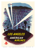 Los Angeles - Hollywood, California - American Airlines Poster par Fred Ludekens