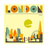 London Skyline Poster par Jazzberry Blue
