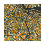Amsterdam Map Posters par Jazzberry Blue