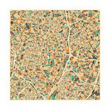 Madrid Map Posters par Jazzberry Blue