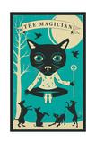 Tarot Card Cat: The Magician Affiche par Jazzberry Blue